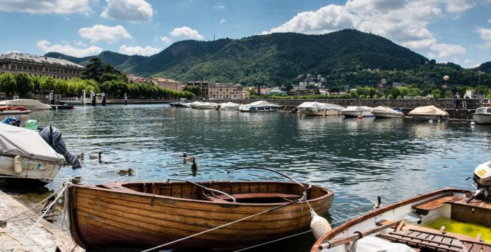 Boats on Lake Como