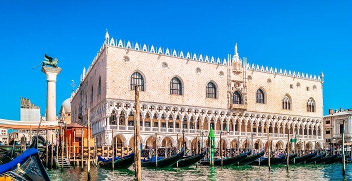 building Venice, Italy near body of water