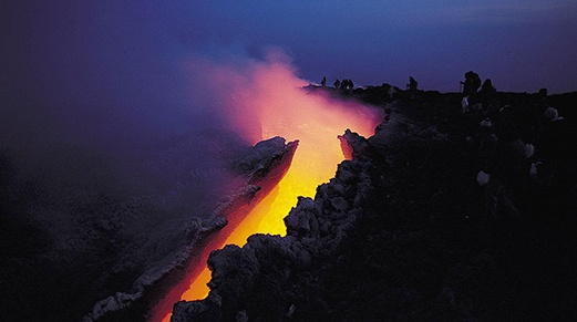 Hawaii active volcano