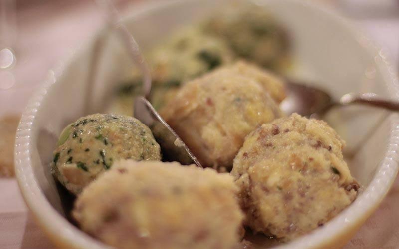 Explore-Italy-Cortina-d-ampezzo-Local-Cuisine-bread-ball