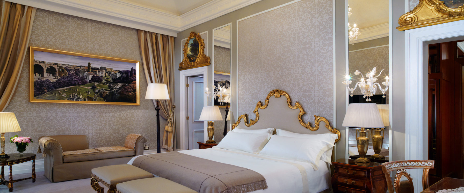 Bedroom of Royal Suite at The St. Regis Rome