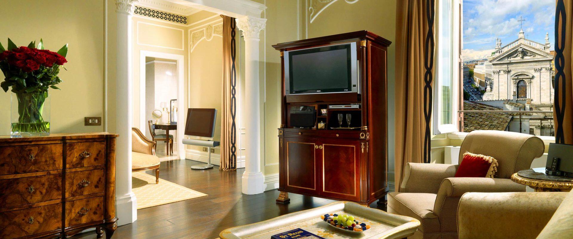turned-off flat screen TV inside living room