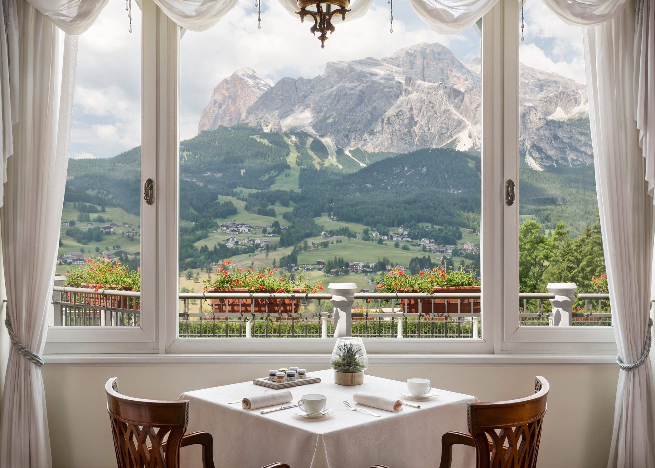 dinning set near window