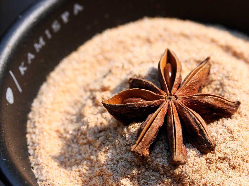 brown nut on grain
