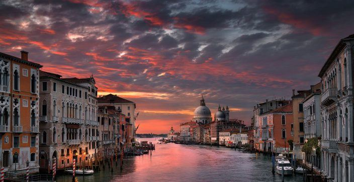 Venice Canal during golden hour