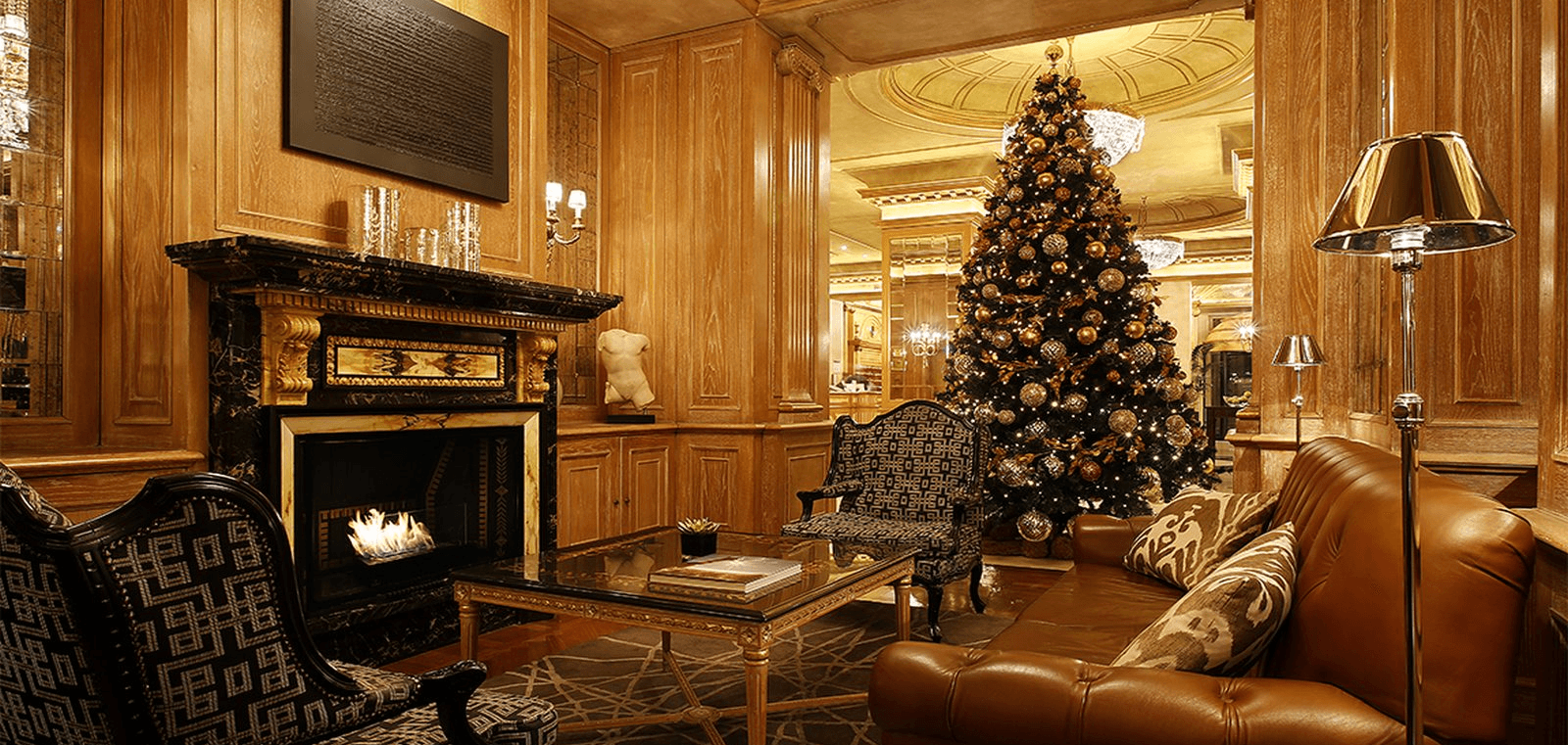 Christmas tree inside room