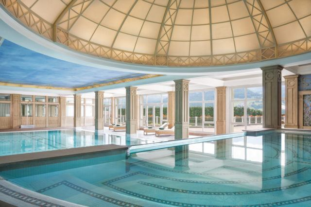 Swimming Pool at Cristallo Spa