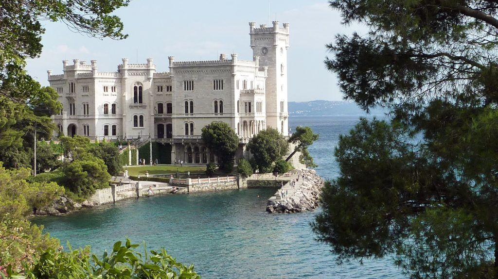 View of Miramare Castle in Trieste