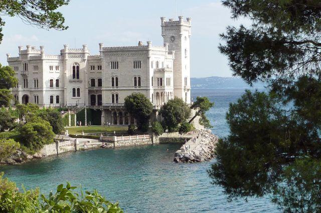 View of Miramare Castle in Trieste