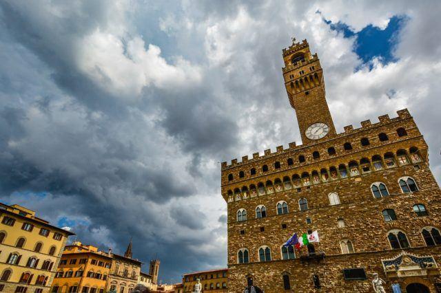 View of Piazza della Signoria in Florence Palazzo Vecchio