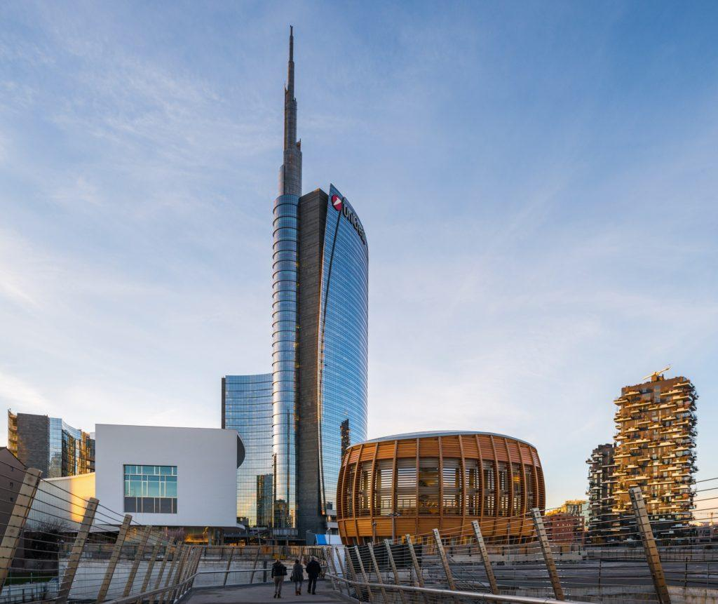 Skyline of Milan Porta Nuova District