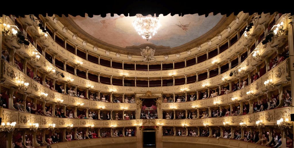View of Teatro Sociale at Como