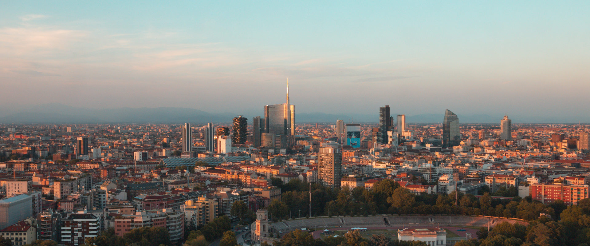 The golden hour in Milan