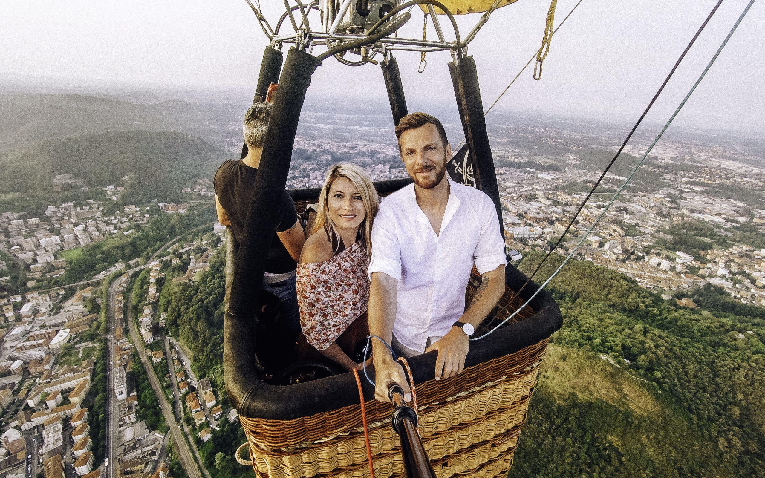 Couple on Hot Air Balloon