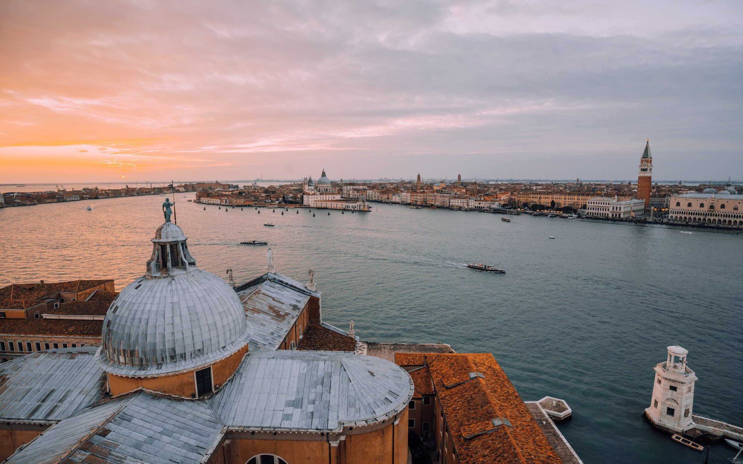 The golden hour in Venice at San Giorgio Maggiore