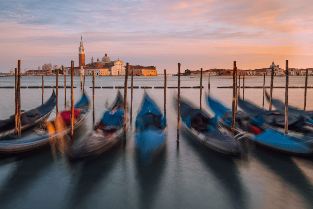 Gondolas on the Riva degli Schiavoni