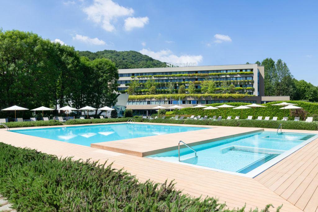 Outdoor pool of Sheraton Lake Como