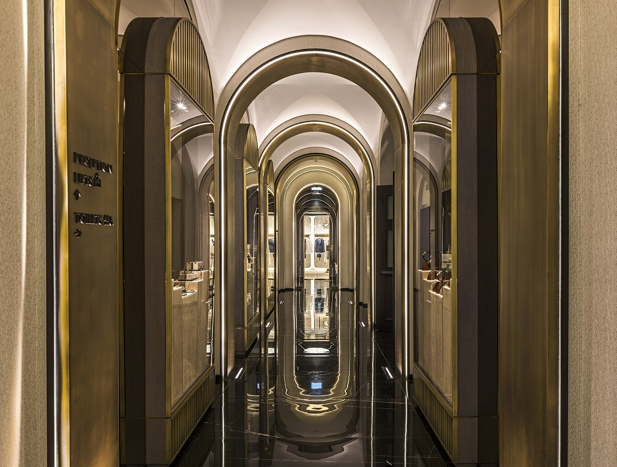 The entrance to the Pantheon Icon Hotel in Rome