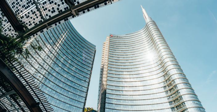 Skyscrapers in Milan Unicredit Tower