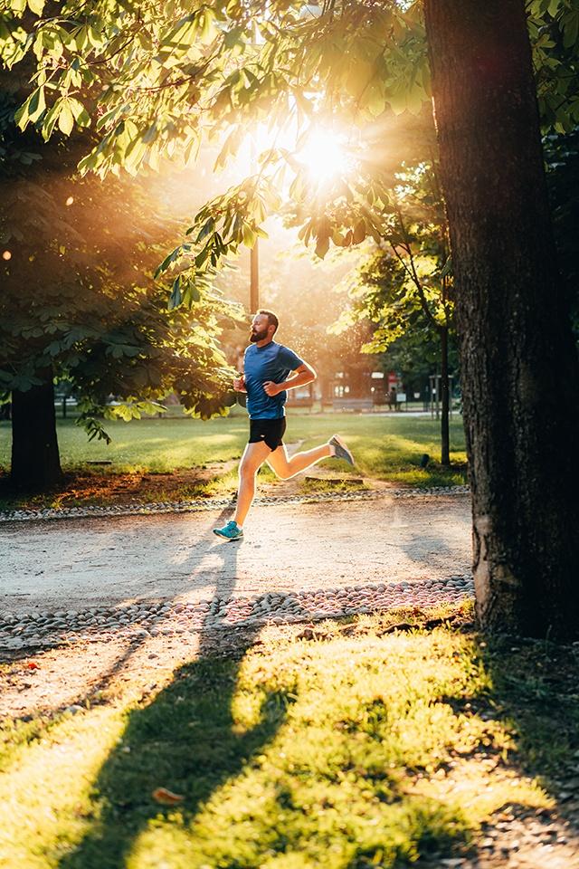 Man running in Sempione Park