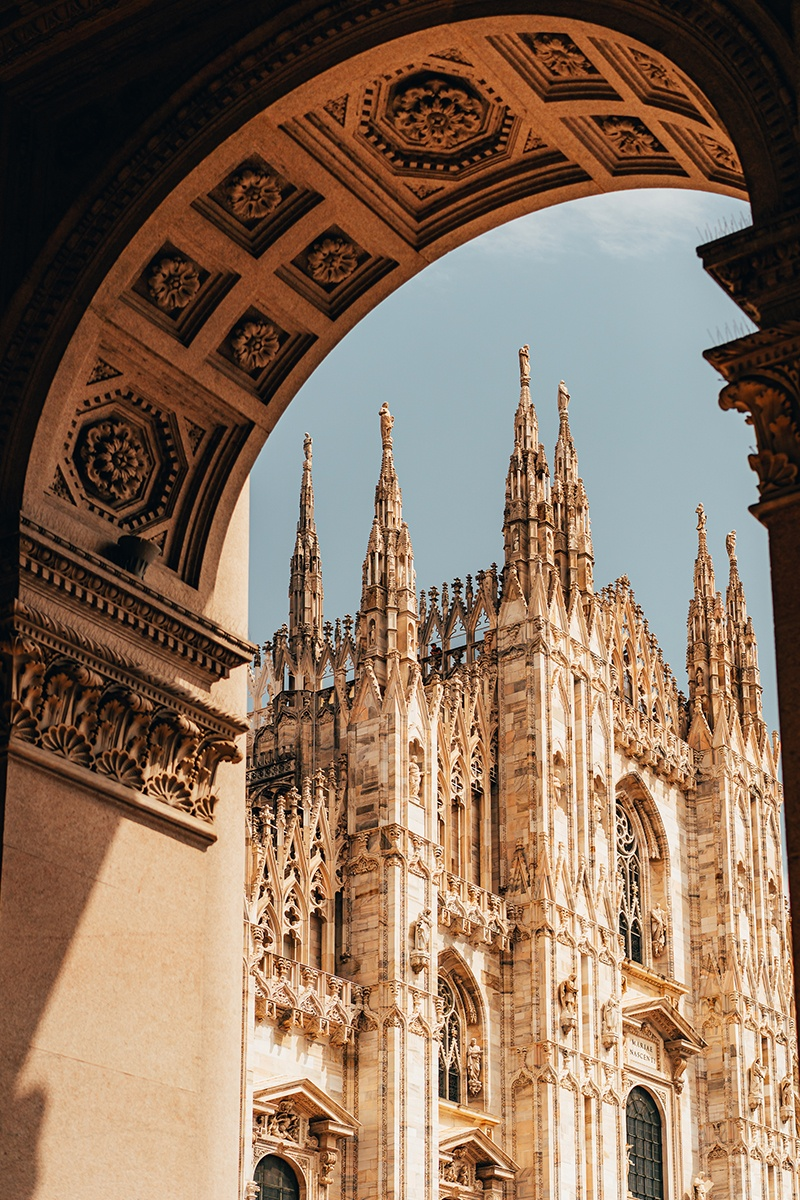 View of Milan Cathedral from Gallery