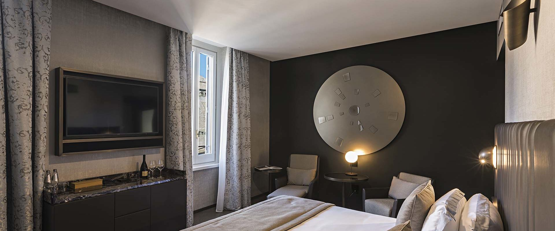 Bedroom of the Pantheon Suite at the Pantheon Icon Hotel