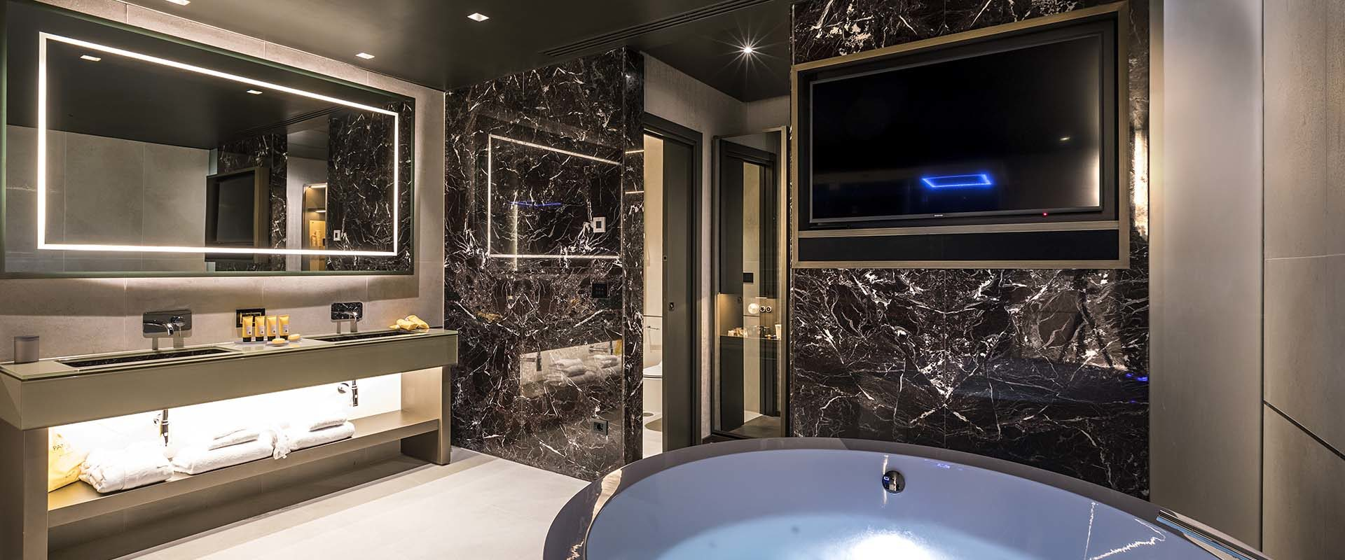 Private Jacuzzi in the Spa Suite at the Pantheon Icon Hotel