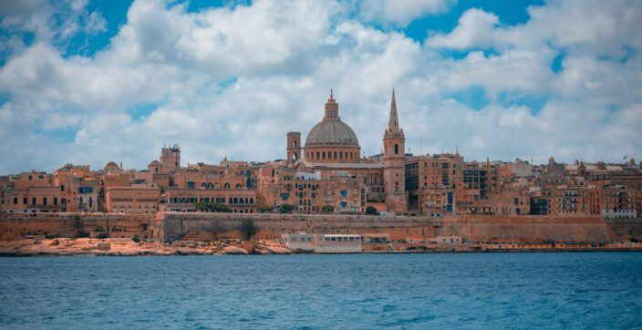 skyline view of Valletta, the Capital of Malta